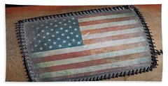 Beach Towel featuring the photograph American Leather by Christopher McKenzie