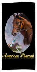 American Pharoah Framed Beach Towel