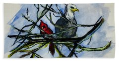 American Picture Beach Towel by Clyde J Kell