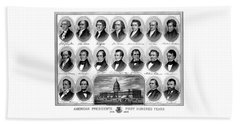 American Presidents First Hundred Years Beach Towel