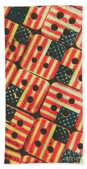 American Quilting Background Beach Towel