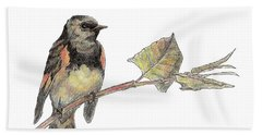 American Redstart Beach Towel