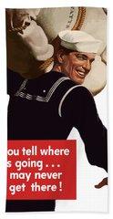 American Sailor -- Ww2 Propaganda Beach Towel
