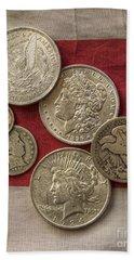 American Silver Coins Beach Sheet