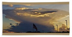 American Supercell Beach Towel by Ed Sweeney
