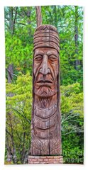 Native American Totem Beach Towel
