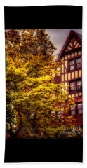Beach Sheet featuring the photograph American Tudor - The Beauty Of Autumn by Miriam Danar
