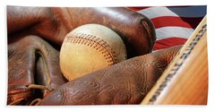 Americas Pastime Beach Towel by Pat Cook