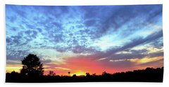 City On A Hill - Americus, Ga Sunset Beach Towel by Jerry Battle