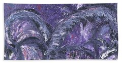 Beach Towel featuring the painting Amethyst Is The Color Of Your Energy by Ania M Milo