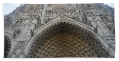 Amiens Cathedral Beach Towel by Therese Alcorn
