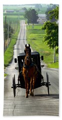 Amish Morning Commute Beach Towel