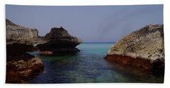 Among The Rocks Beach Towel