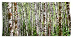 Amongst The Alders Beach Towel by Mark Alder