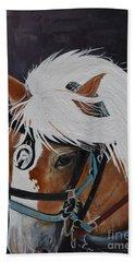 Amos - Haflinger - Horse Beach Towel
