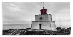 Amphitrite Point Lighthouse Beach Towel
