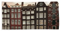 Amsterdam Architectre At Twilight Beach Towel