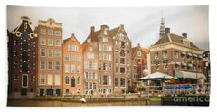 Beach Towel featuring the photograph Amsterdam Scene by Therese Alcorn