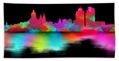 Amsterdam Skyline - Night Art Beach Towel