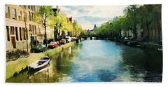 Amsterdam Waterways Beach Towel