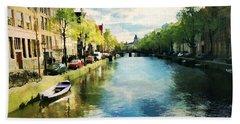 Amsterdam Waterways Beach Sheet