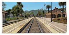 Amtrak Station, Santa Barbara, California Beach Towel