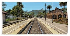 Amtrak Station, Santa Barbara, California Beach Towel