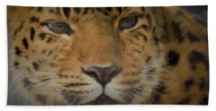 Amur Leopard Dp Beach Towel by Ernie Echols