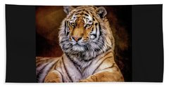 Beach Towel featuring the photograph Amur Tiger by Brian Tarr