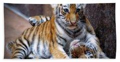Amur Tiger Cubs Beach Sheet