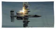 An A-10 Warthog Breaks Over The Pacific Beach Towel