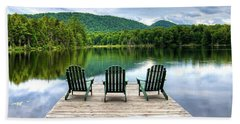 Beach Towel featuring the photograph An Adirondack Panorama by David Patterson