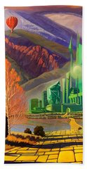 Beach Towel featuring the painting Oz, An American Fairy Tale by Art West