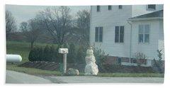 An Amish Snowman Beach Towel