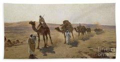 An Arab Caravan Beach Sheet by Ludwig Hans Fischer