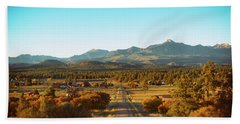 An Autumn Evening In Pagosa Meadows Beach Towel