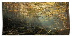 An Autumn Morning Beach Towel by Mike Eingle