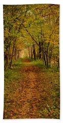 An Autumn's Walk Beach Sheet