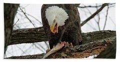 An Eagles Meal Beach Towel by Brook Burling