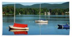 An Early Calm On A Berkshire Lake Beach Sheet