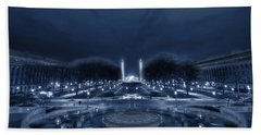 An Evening At The Capitol Beach Towel