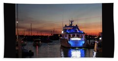 Beach Towel featuring the photograph An Evening In Newport Rhode Island Iv by Suzanne Gaff
