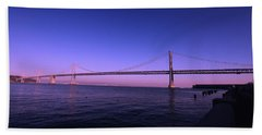 An Evening In San Francisco  Beach Towel