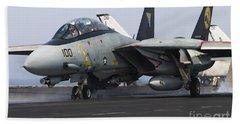 An F-14d Tomcat Launches Off The Flight Beach Towel
