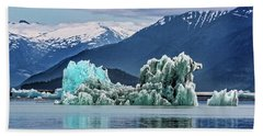 An Iceberg In The Inside Passage Of Alaska Beach Towel