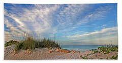 An Invitation - Florida Seascape Beach Sheet by HH Photography of Florida