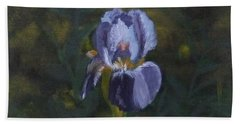 An Iris In My Garden Beach Towel