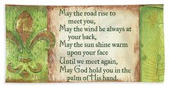 Beach Towel featuring the painting An Irish Blessing by Debbie DeWitt