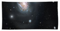 Beach Towel featuring the photograph An Island Universe In The Coma Cluster by Nasa