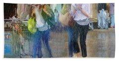 Beach Towel featuring the photograph An Odd Sharp Shower by LemonArt Photography